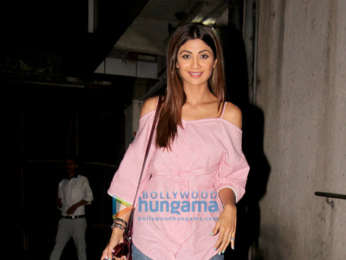 Shilpa Shetty spotted at a clinic in Bandra