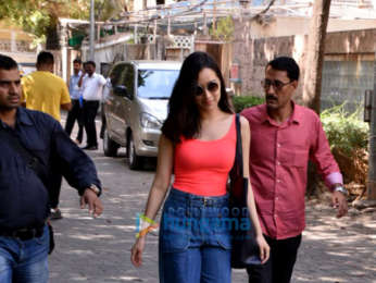 Shraddha Kapoor snapped near her home post a dubbing session