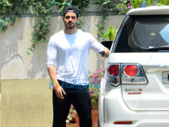 Sooraj Pancholi snapped outside gym