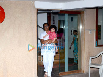 Taimur Ali Khan snapped at his friends house in Bandra