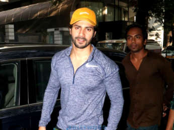 Varun Dhawan spotted at the gym in Bandra