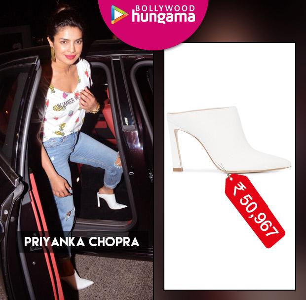 Weekly Celebrity Splurges - Priyanka Chopra in Stuart Weitzman