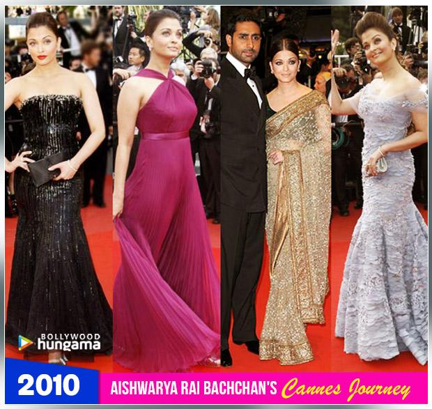 Aishwarya Rai Bachchan Cannes journey 2010