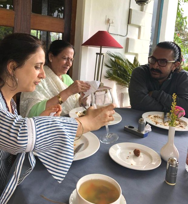 Aamir Khan joins 60th birthday celebrations of Mansoor Khan with Kiran Rao, Azad and Ira in Coonoor