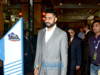 Abhishek Bachchan snapped at Pro Kabaddi League press conference