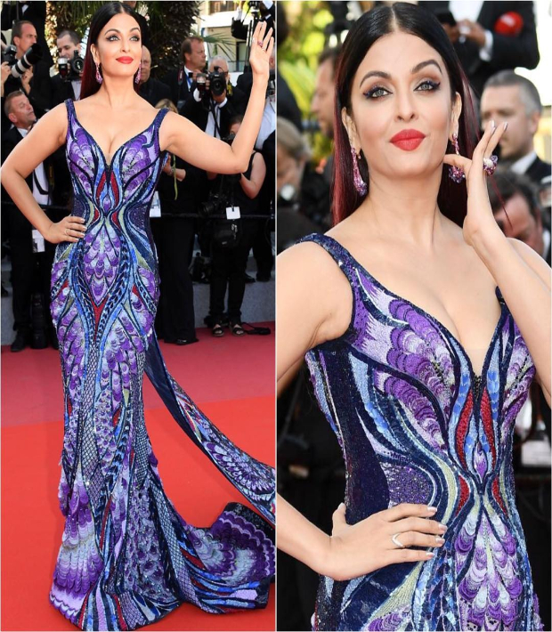 Aishwarya Bachchan in Michael Cinco infinity gown at Cannes 2018