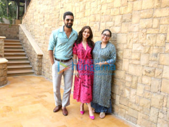 Alia Bhatt and Vicky Kaushal snapped at a media meet promoting their film Raazi