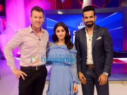 Alia Bhatt promotes Raazi on the sets of Kent Cricket Live