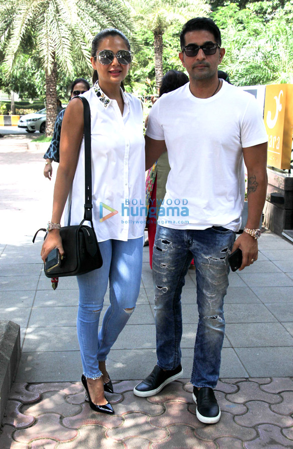 Amrita Arora snapped with her husband at Yauatcha in BKC