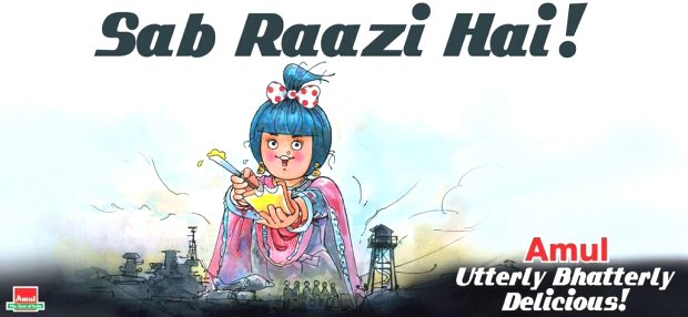 Amul nails it once more with their UNMISSABLE tribute for Alia Bhatt's Raazi