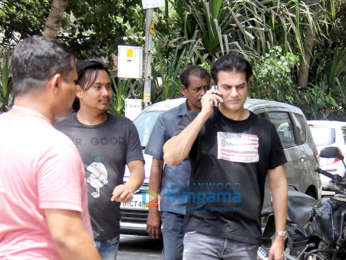 Arbaaz Khan snapped at Bandstand, Bandra