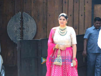 Arjun Kapoor & Anshula Kapoor snapped attending Sonam Kapoor and Anand Ahuja's wedding