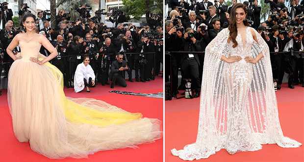 Bridal couture on the red carpet - Sonam Kapoor and Deepika Padukone