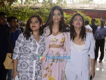 Cast of Veere Di Wedding snapped promoting their film