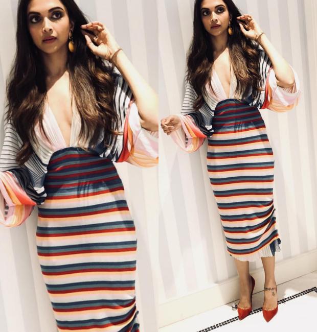 Deepika Padukone makes it a striped affair to remember