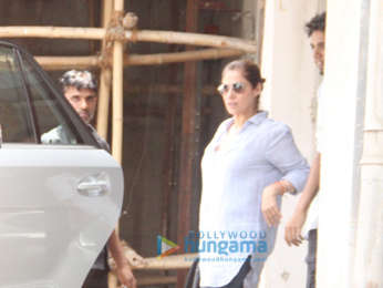 Dimple Kapadia snapped outside a clinic in Bandra