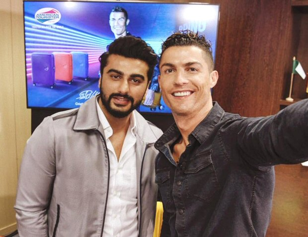 FAN BOY MOMENT! Arjun Kapoor is super thrilled to meet Cristiano Ronaldo and here is his message