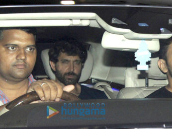 Hrithik Roshan snapped at Sussanne Khan's house celebrating their son's birthday