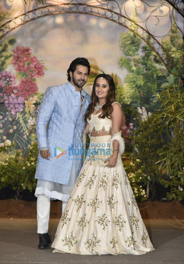 ITS OFFICIAL! Varun Dhawan and girlfriend Natasha Dalal arrive together at Sonam Kapoor - Anand Ahuja's reception