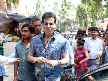 Jeetendra spotted at a temple in Juhu