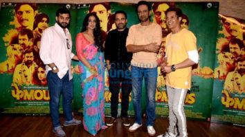 Jimmy Sheirgill, Pankaj Tripathi and Mahie Gill snapped promoting their film Phamous