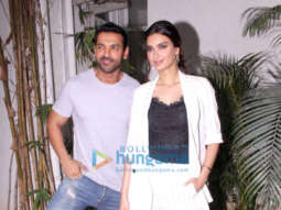 John Abraham and Diana Penty promote their film Parmanu - The Story of Pokhran in Bandra