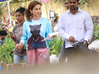 Kangana Ranaut spotted on location of Mental Hai Kya