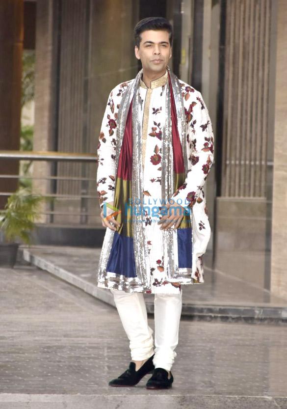 Karan Johar at Sonam Kapoor and Anand Ahuja mehendi and sangeet
