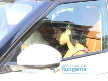 Khushi Kapoor spotted at a clinic in Juhu