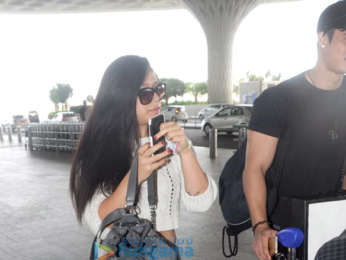 Krishna Shroff snapped at the airport