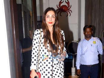 Malaika Arora and Aditi Govitrikar spotted at Bastian in Bandra