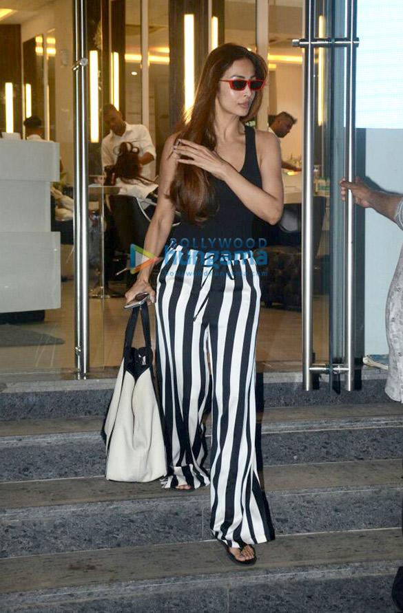 Malaika Arora spotted at Kerastase Paris salon in Bandra