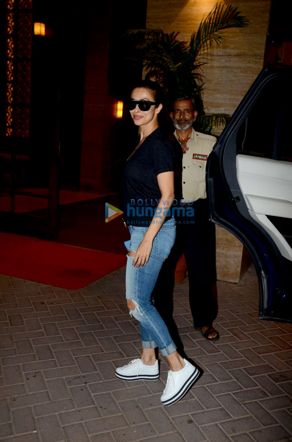 Malaika Arora spotted at a clinic in Bandra