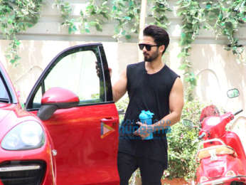 Nidhhi Agerwal and Shahid Kapoor spotted at the gym