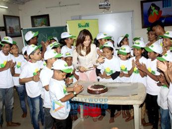 Nushrat Bharucha celebrates her birthday with the kids of Smile Foundation
