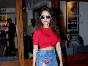 Nushrat Bharucha snapped at Sequel Cafe in Bandra