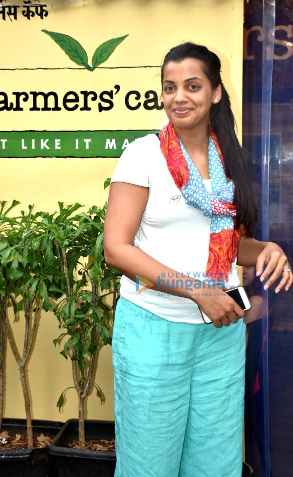 Rahul Dev and Mugdha Godse snapped at Farmers' Cafe