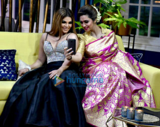 Rakhi Sawant, Arshi Khan and Eijaz Khan shoot for the show JuzzBaatt