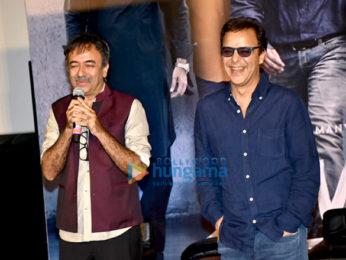Ranbir Kapoor, Sonam Kapoor, Rajkumar Hirani, Vidhu Vinod Chopra snapped at the trailer launch of Sanju