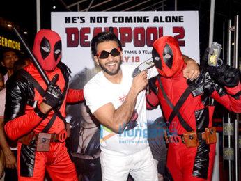 Ranveer Singh graces the screening of Deadpool 2