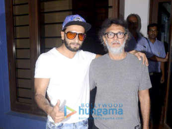 Ranveer Singh snapped at Rakeysh Omprakash Mehra's office