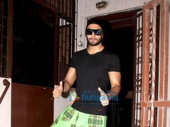 Ranveer Singh snapped at a recording studio in Bandra
