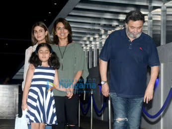 Rishi Kapoor snapped with family at Hakkasan in Bandra