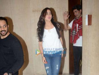 Rohit Shetty and Sara Ali Khan snapped at Manish Malhotra's house in Bandra