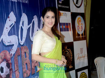 Sagarika Ghatge snapped promoting her film Monsoon Football