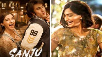 Sanju new poster Sonam Kapoor gives us serious Neerja feels as she brings back the 80s as Ranbir Kapoor's girlfriend