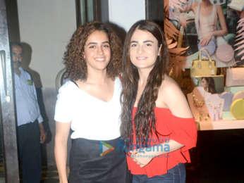 Sanya Malhotra and Radhika Madan spotted at Bastian in Bandra