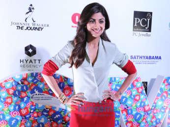 Shilpa Shetty, Athiya Shetty, Priya Varrier snapped at PCJ Outlook Social Media Awards 2018 at Hyatt Regency in New Delhi