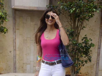 Shilpa Shetty snapped at the Radio City office in Bandra