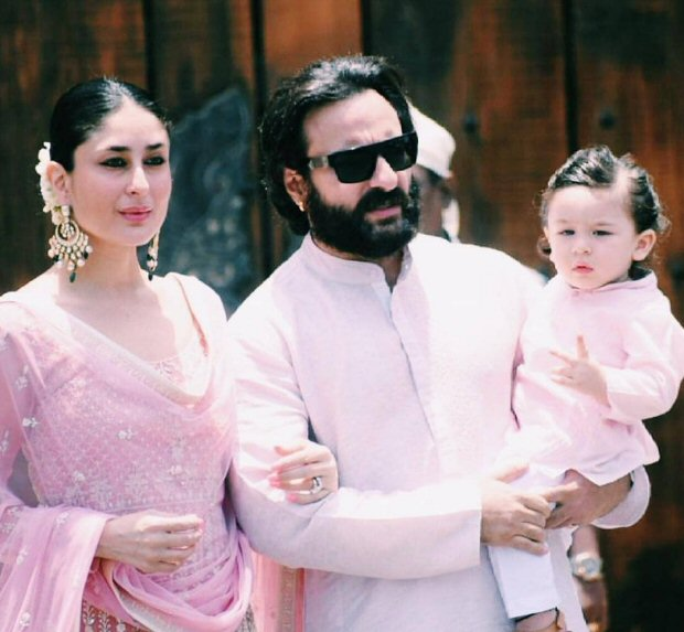 Sonam Kapoor wedding: Kareena Kapoor's Taimur steals thunder as he twins in pathani with Saif Ali Khan